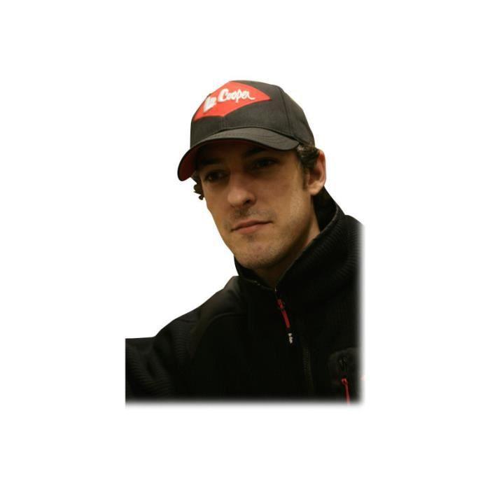 Lee Cooper Baseball cap coton noir - Achat   Vente chapeau ... fe23af3d7a3