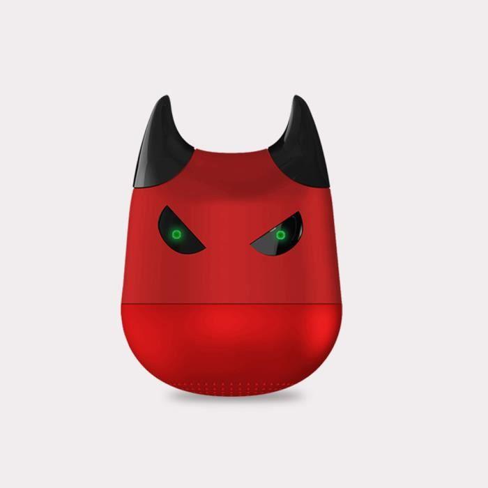 Enceinte Portable Mini Sans Fil Bluetooth Haut-parleur Avec Microphone, Selfie Fonction D'rouge