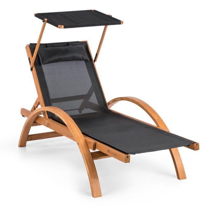 Inclus Chaise 150kg Transat Bascule MaxNoir Blumfeldt À Soleil Comfortmesh Coussins Avec Longue Pare Panamera Charge lJ1TFcK3