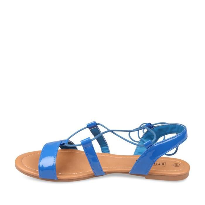 d6c70f3e94d5 Nu-Pieds BLEU MERRY SCOTT Femme Chaussea Bleu Bleu - Achat   Vente ...