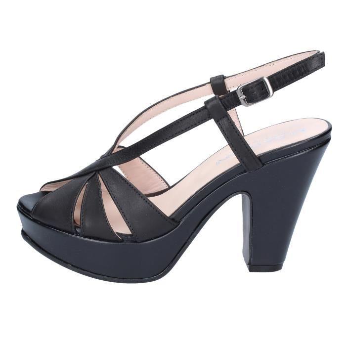 Sandale Cuir Vnowynm80 Rubini By357 Chaussures Noir Femme Olga OXZukPi