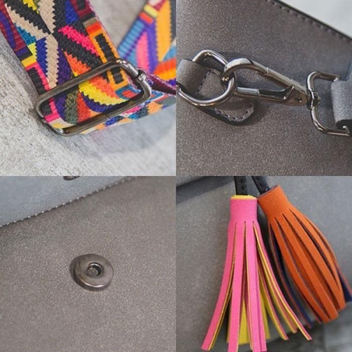 Femmes petites chaînes sac à main marron 21cm by 10cm by 20cmmarron 21cm by 10cm by 20cm Femme rétro Tassel Sac à bandoulière