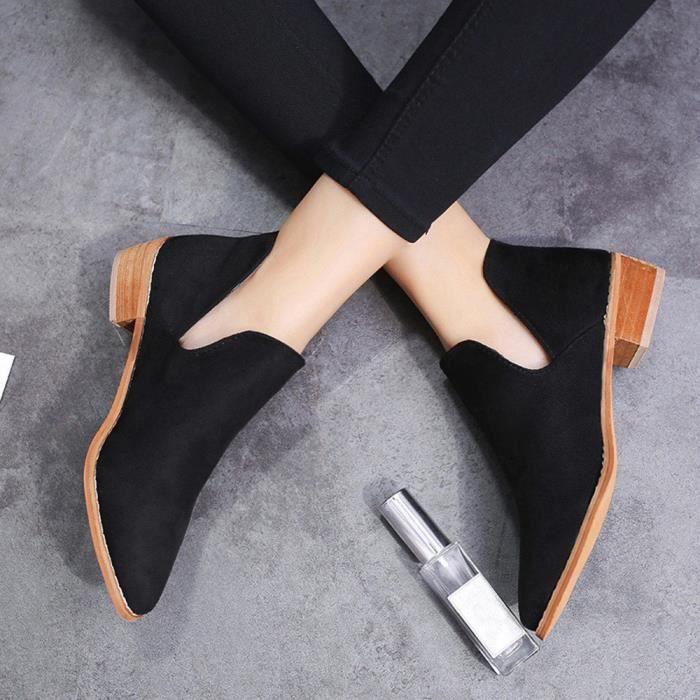 Femmes Boucle Dames Faux Solide Bottes Chaudes Bottines Martin Chaussures XMM71215532_1001