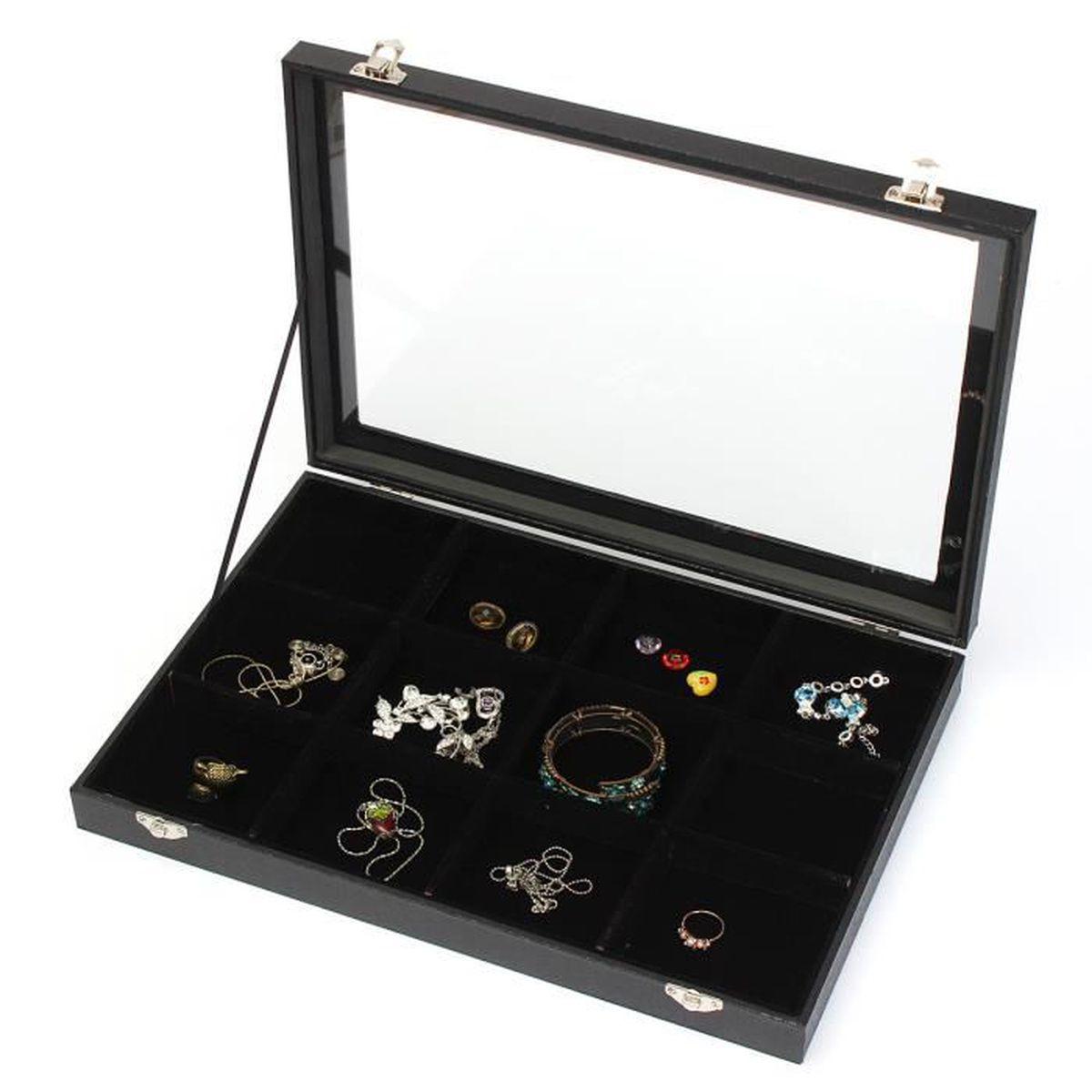 coffret rangement de bijoux achat vente pas cher cdiscount. Black Bedroom Furniture Sets. Home Design Ideas