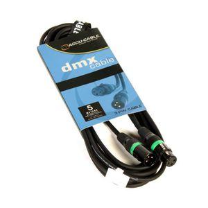 CÂBLE TV - VIDÉO - SON Câble DMX équipé XLR 3 broches ACCU CABLE -AC-DMX