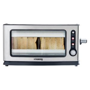 GRILLE-PAIN - TOASTER H.KOENIG VIEW6 GRILLE PAIN TOASTER ELECTRIQUE 900W