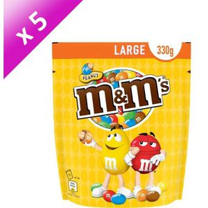 CONFISERIE DE SUCRE MARS Lot de 5 Cacahuètes M&M's enrobées de chocola