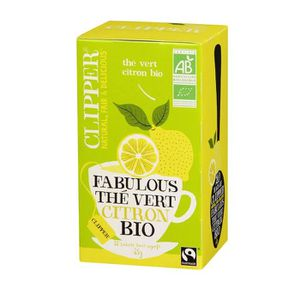 THÉ CLIPPER Thé Vert Citron Bio 35g