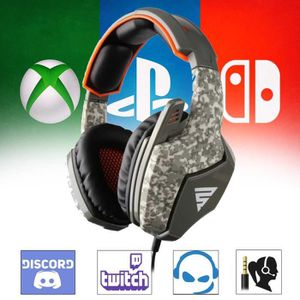 JEUX XBOX ONE Casque gamer camouflage pour PS4 et Xbox One