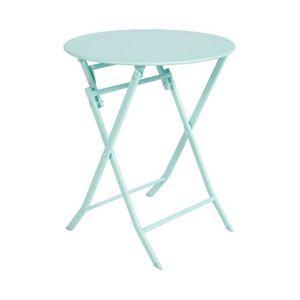 TABLE DE JARDIN  TABLE PLIANTE GREENSBORO HESPERIDE RONDE MINT