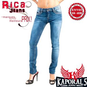 JEANS JEANS KAPORAL5 FEMME NEUF TAILLE 28US COUPE SLIM M