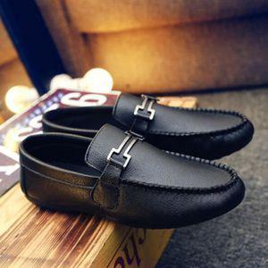 MOCASSIN Mocassins Homme Chaussures PU-Cuir Noir