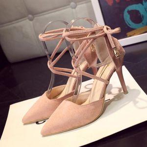 ESCARPIN Summer Gladiator femmes sandales chevilles à talon