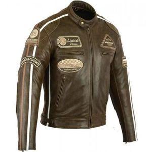 6b13fdf809d3e Blouson cuir moto vintage - Achat / Vente pas cher