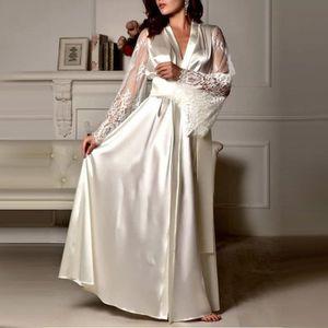 61147e2b20600 BUSTIER - CORSET Femmes satin longue chemise de nuit en soie dentel