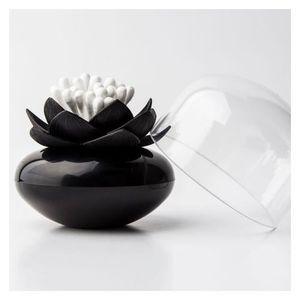 DISTRIBUTEUR DE COTON Boite coton tiges Lotus noire Qualy