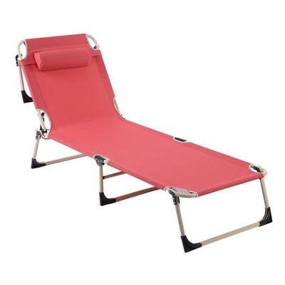 Camping Pour Jardin Transat Pliable Portable Longue Repose Inclinables Et Avec Chaise Têterouge Om0y8wnPvN