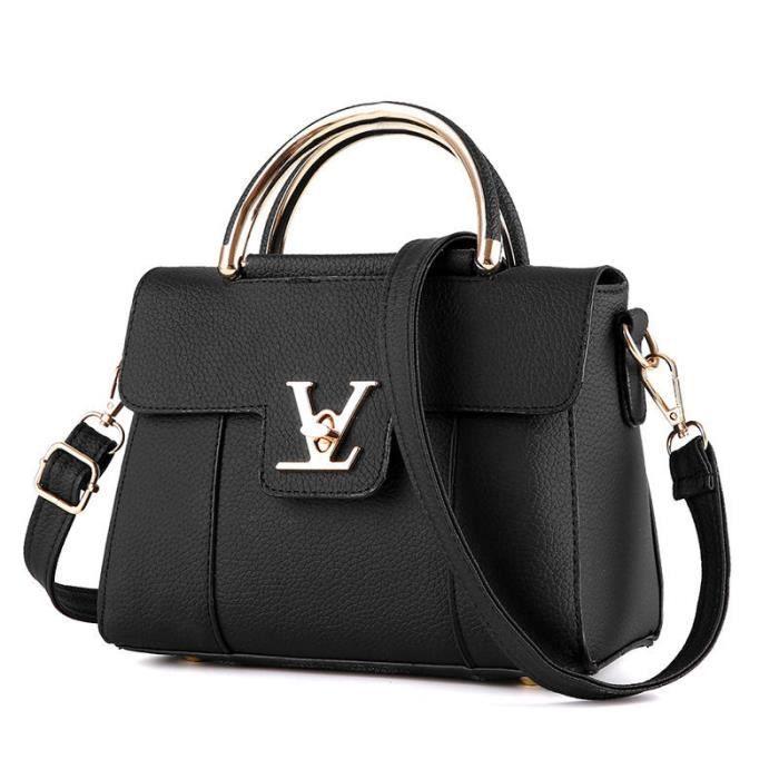 b561d5fa7e sac à main femme sac à main De Luxe Femmes Sacs Designer sac à main de  marque pour femme noir sac luxe femme cuir