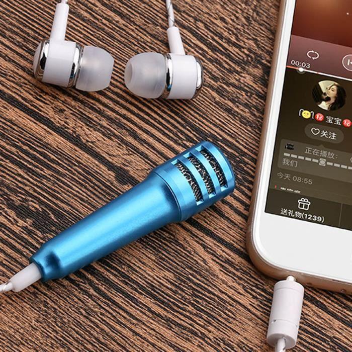 Mini Karaoke Microphone À Condensateur Avec Des Écouteurs Pour Téléphone Ordinateur Phonémique Marioyuzhang 5350