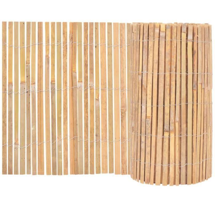 BELLE TECH Cl?ture de jardin Bambou 1000 x 50 cm