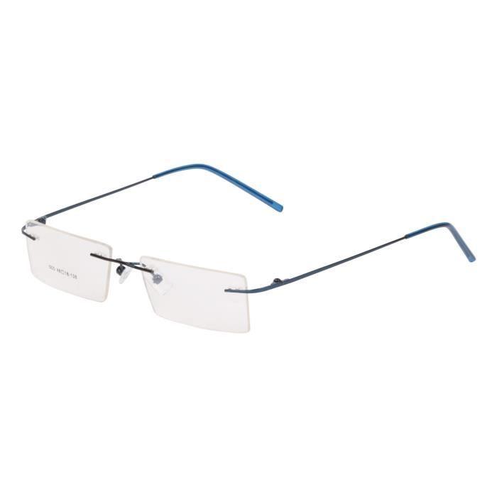 Cerclées rectangulaire unisexe lunettes monture (41-02) FLJN4