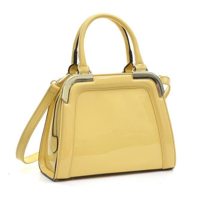 Petit cuir verni Tone Satchel Mini angle dor sacs à main pour femmes Sacs à bandoulière ZNJ72