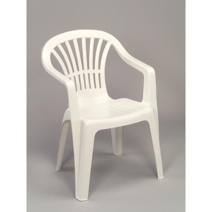 Fauteuil jardin lot 4 fauteuils jardin plastique blanc empilables