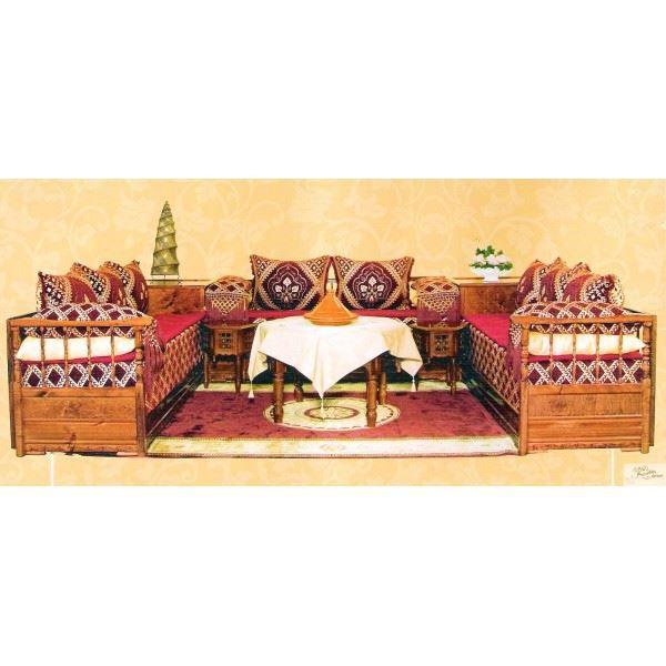 Salon Marocain Traditionnel Wafa Complet en Boi… - Achat / Vente ...