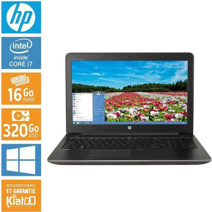 6ddd45d97bd438 Pc portable HP ZBOOK 15 core i7 16 go ram 320 disque dur windows 10  ordinateur portable 15 pouces