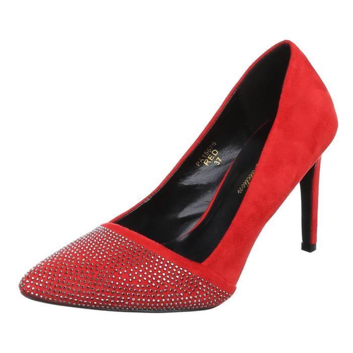 Noir De Haut Femme Chaussure Chaussures rouge Talons Talon Soirée Aiguilles Escarpin Club 0v6qf
