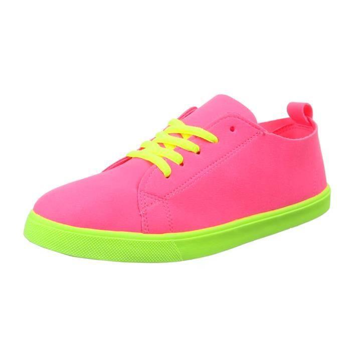 Chaussures femmes sneakers Derbies Basket noir vert eFO8u425hb