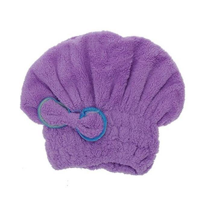 BONNET DE DOUCHE Utile chapeau de seche cheveux microfibre seche ra