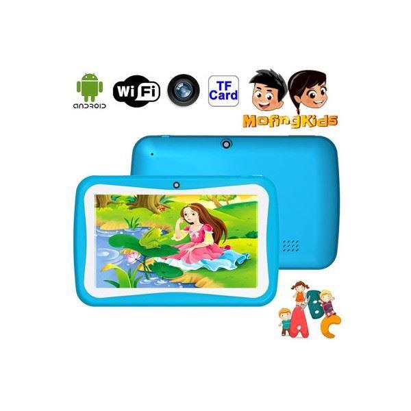 tablette tactile enfants 7 pouces bleu prix pas cher. Black Bedroom Furniture Sets. Home Design Ideas