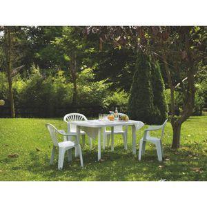 fauteuil de jardin plastique blanc achat vente fauteuil de jardin plastique blanc pas cher. Black Bedroom Furniture Sets. Home Design Ideas