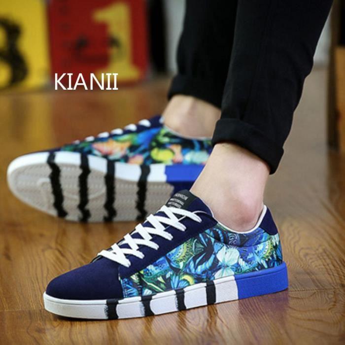 Mode Basket Homme Chaussures de sport Running chaussures Bleu SQMdF