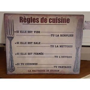 plaque deco cuisine emaillee achat vente plaque deco cuisine emaillee pas cher soldes d s. Black Bedroom Furniture Sets. Home Design Ideas