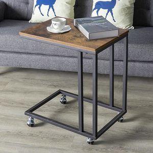 TABLE D'APPOINT WISS Bout de canapé, Table de Chevet de Style Indu