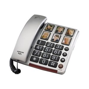 Téléphone fixe Audioline BigTel 40 Plus Téléphone filaire