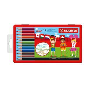 CRAYON DE COULEUR STABILO Boîte métal de 12 crayons de couleur Color