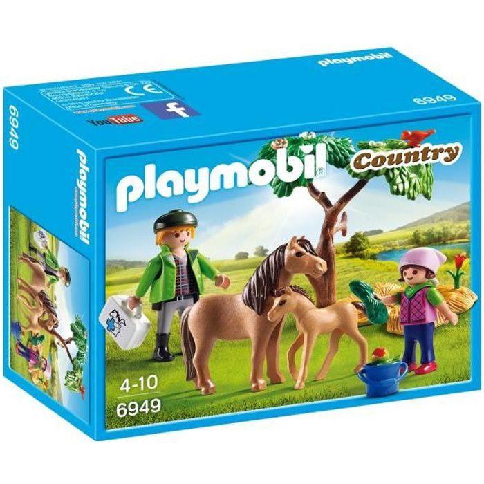 PLAYMOBIL 6949 Vétérinaire avec Enfant et Poneys