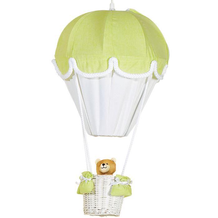 DOMIVA Lampe montgolfière - Anis et Blanc