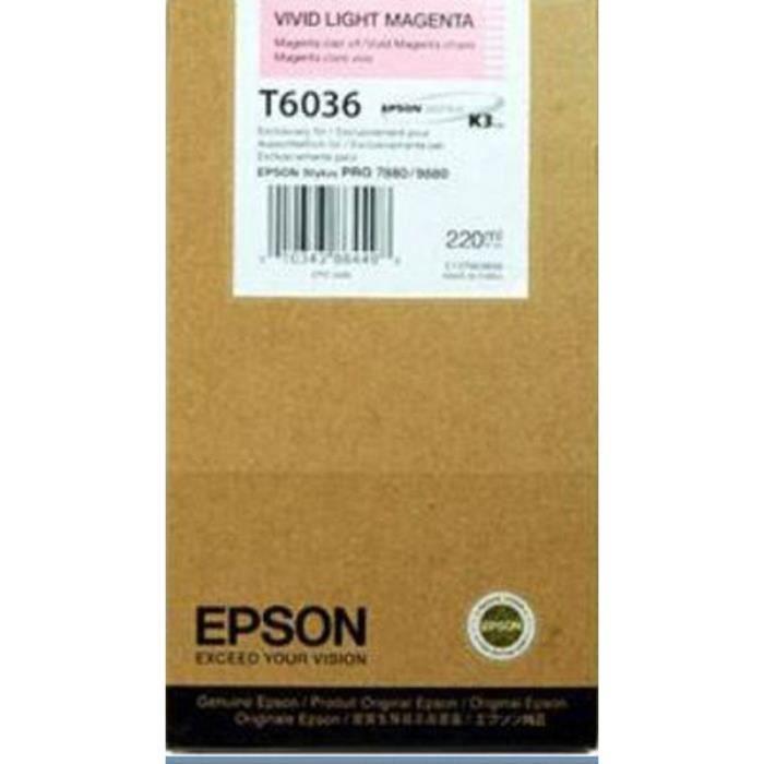EPSON Cartouche d'encre T6036 - Magenta vif clair - Capacité standard 220ml