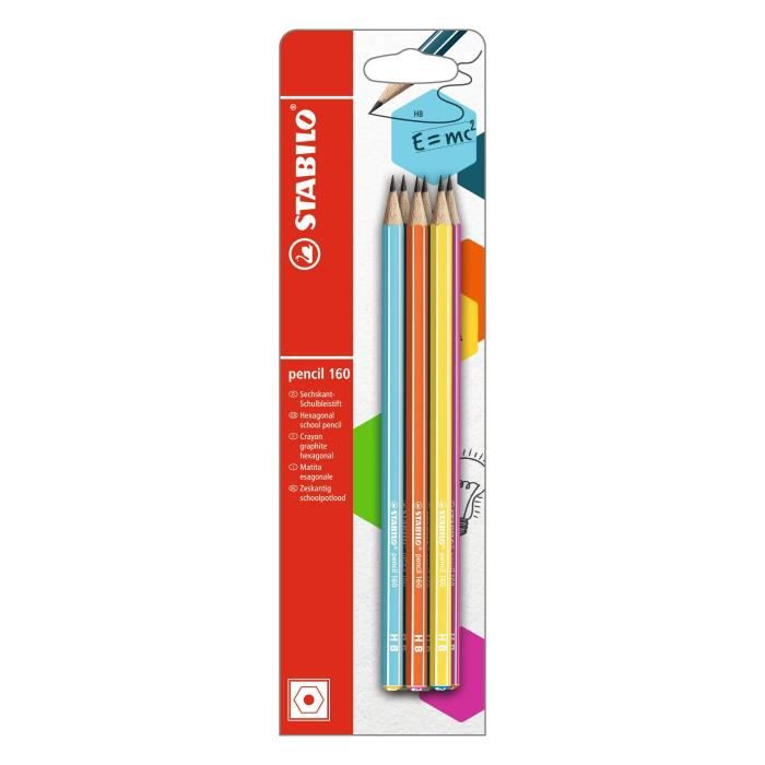 STABILO - lot de 6 crayons graphite pencil 160 HB