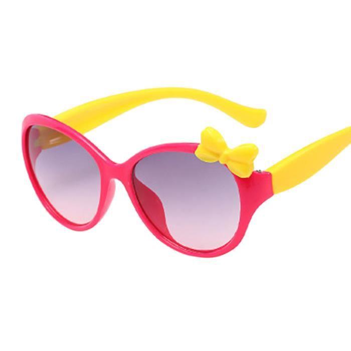 Anti-UV lunettes dessin enfants bébé garçons filles Bow Lunettes de soleil a6e261aca347