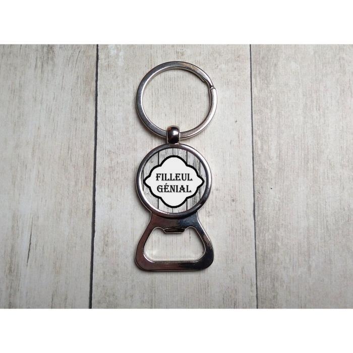 Porte Clefs Personnalisé Filleul Décapsuleur Bouteille Capsule - Porte clé decapsuleur personnalisé