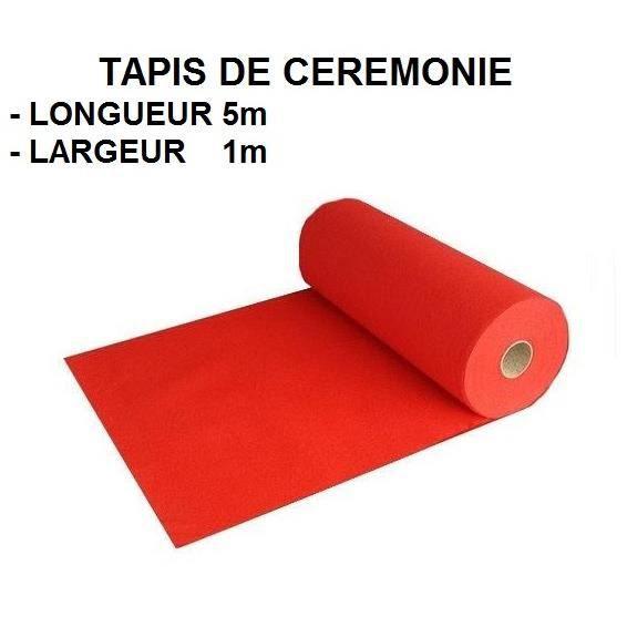 Tapis ceremonie rouge 51m fetemariageegliseetc for Tapis rouge avec canapé 145 cm