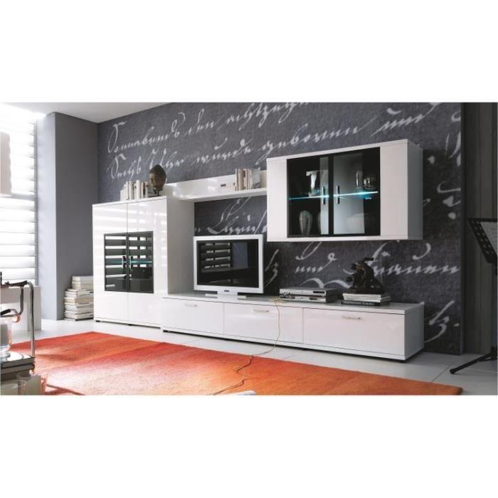 Ensemble meubles tv complet design corano b avec led for Meuble tv complet design