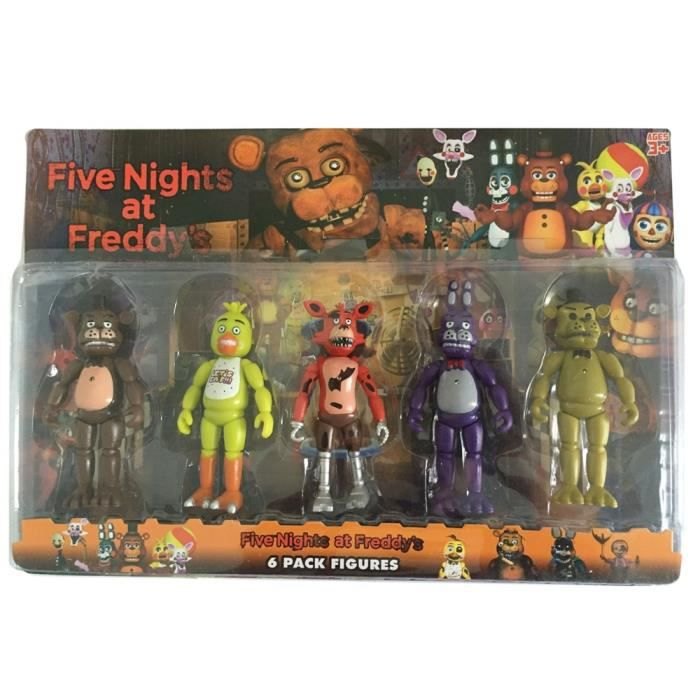 lot de 5 figurine five nights at freddy 39 s achat vente figurine personnage cdiscount. Black Bedroom Furniture Sets. Home Design Ideas