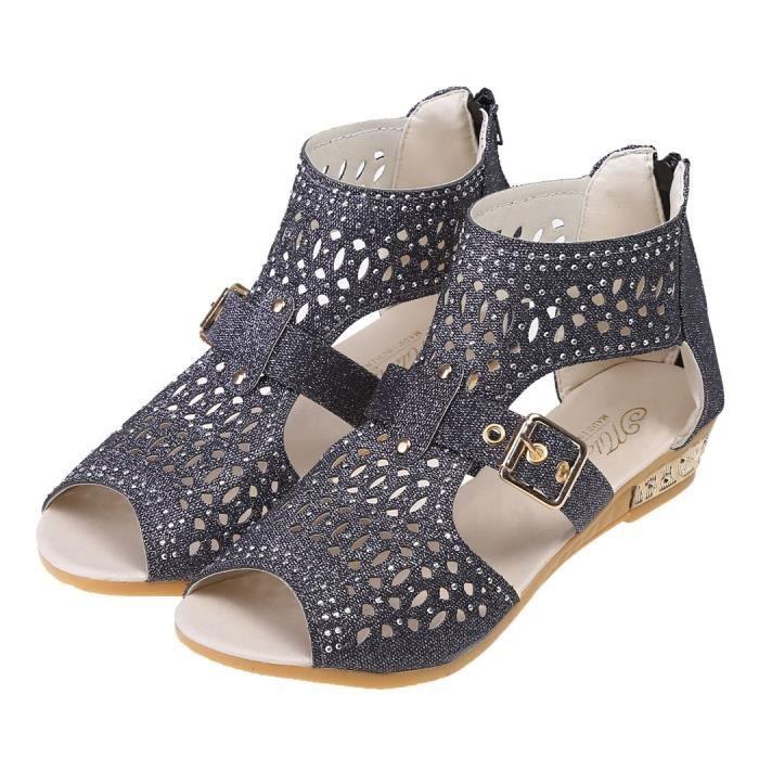 Sandales à talons creux en strass hzWNCkBC
