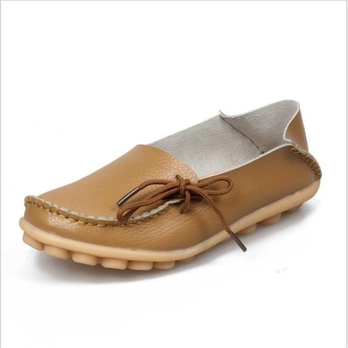 Loafer femmes Qualité Supérieure Confortable Loafers 2017 Nouvelle Mode Marque De Luxe chaussure En Cuir Grande Taille